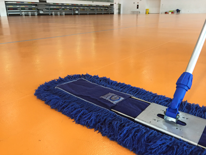 Servicio de mopas azules